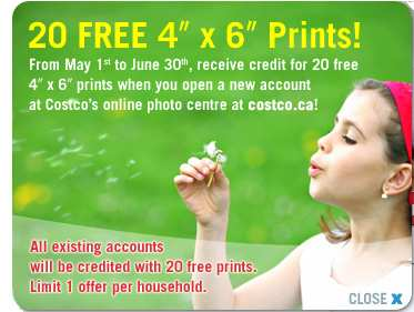 Free Digital Photo Prints Canada