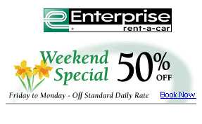 Get car rental specials and limited time offers from Enterprise by signing up for Email Extras and get cheap rentals with discount codes and coupons.