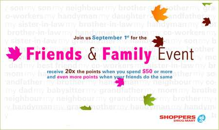 Shoppers Drug Mart Family and Friends