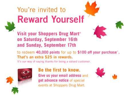 Shoppers Canada: Reward Yourself