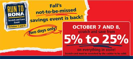 Rona Scratch and Save Event