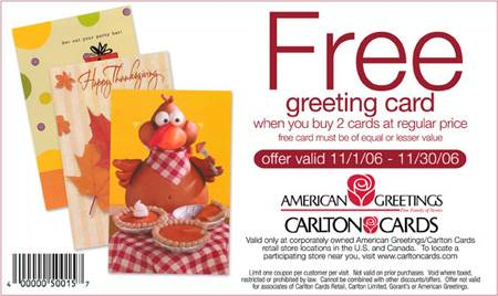 Carlton cards coupons canada
