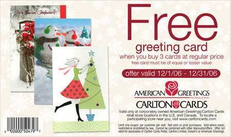 Hallmark cards coupons canada