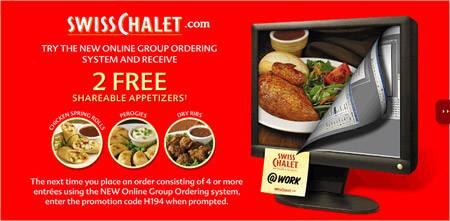 Order resume online swiss chalet