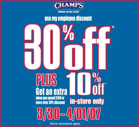 Champs coupon codes