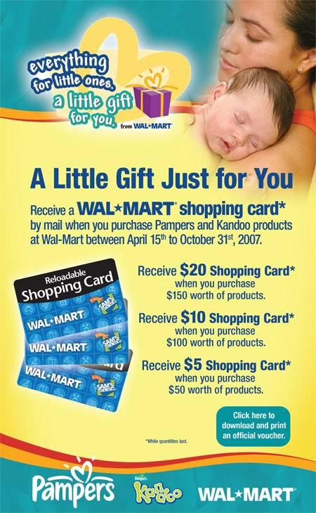 Walmart Pampers Kandoo Canada