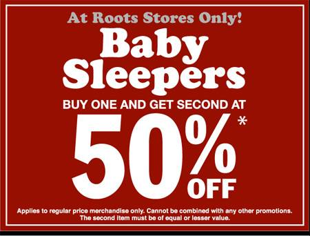 Roots Canada: Baby Clothes, Buy One Get 2nd Half Price ...