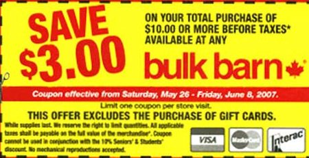 Bulk Barn Canada Flyer: $3 off $10 Coupon