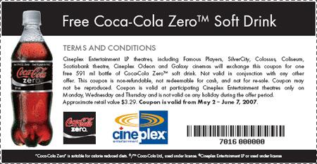 Coca Cola Zero Canada