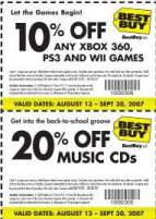 10% off any Xbox 360, PS3, and WII games at Best Buy Canada