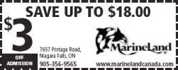 Marineland Niagara Falls Discount Coupons