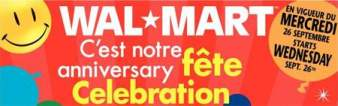 Walmart Canada's Anniversary Sale Sept 28 - Oct 6, 2007 - The Flyer