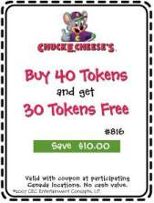 Chuck e cheese deals canada I9 sports coupon