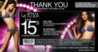 Canadian Coupons: La Senza 15% off Online & In-store