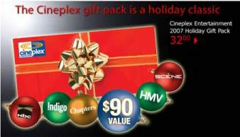 HBC Cineplex Entertainment 2007 Holiday Gift Pack: $32 & Free Shipping