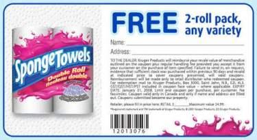 Canadian Freebies: Free Sponge Towels 2-roll Pack
