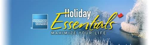 American Express Canada: Holiday Essentials Discounts