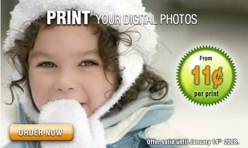 IGA Canada: 11cents per Digital Photo Print