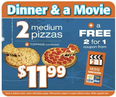 Pizza Pizza Canada Dinner & Movie