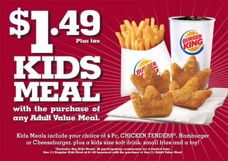 Burger King Canada Deals amp; Promos  Canadian Freebies, Coupons, Deals