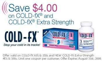 Canadian Coupons: Cold-FX $4 off