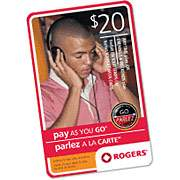 Rogers $20 Pay As You Go Card for $9.97