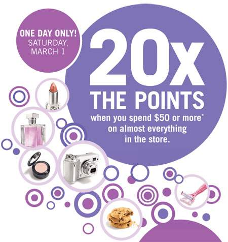 Shoppers Drug Mart: 20X The Optimum Points