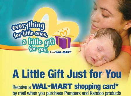 $15 Walmart Canada Gift Card with Pampers Purchase