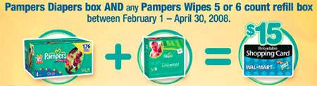 $15 Walmart Canada Gift Card with Pampers Purchase - Updated