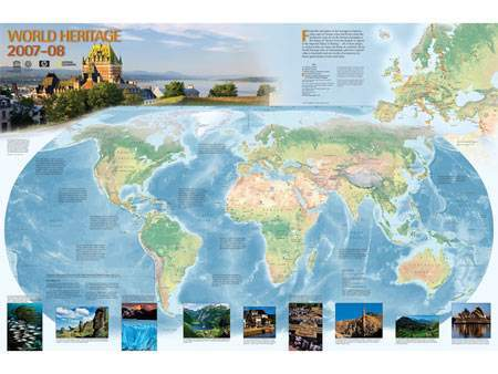 Canadian Freebies: World Heritage Map 2008