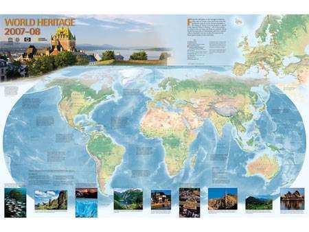 Canadian Freebies World Heritage Map 2008 Canadian Freebies