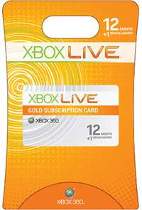 Xbox 360 Live 13-Month Gold Subscription Card $38.75