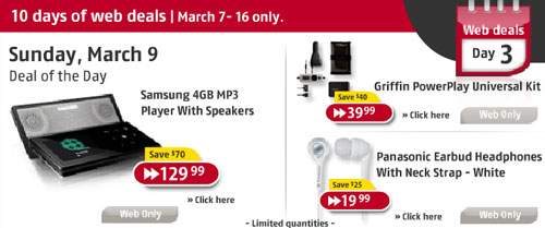 Future Shop 10 Days Deals - March 9 & 10 (Days 3 & 4)