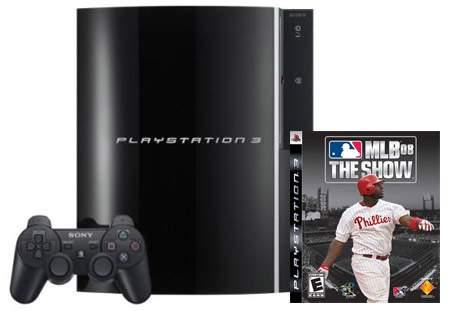 Future Shop: PlayStation 3 + 40GB Hard Drive + MLB 08 $399.99