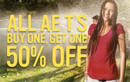 American Eagle in Canada: Buy One T Get One 50% off