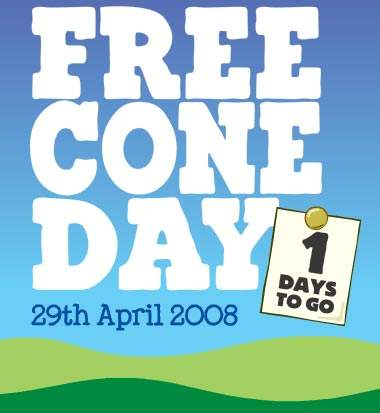 Ben and Jerry's Canada Free Cone Day 2008