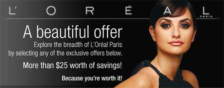 L'oreal Canada Coupons from Save.ca