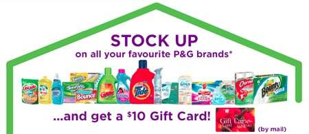 Free $10 Gift Card with Purchase of P&G Products from Superstore, Loblaws, etc.
