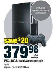 PS3 $380, XBox 360 $450, PSP $160 Including Tax at RCSS No Tax