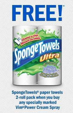 Free Sponge Towels paper Towels with Vim Purchase