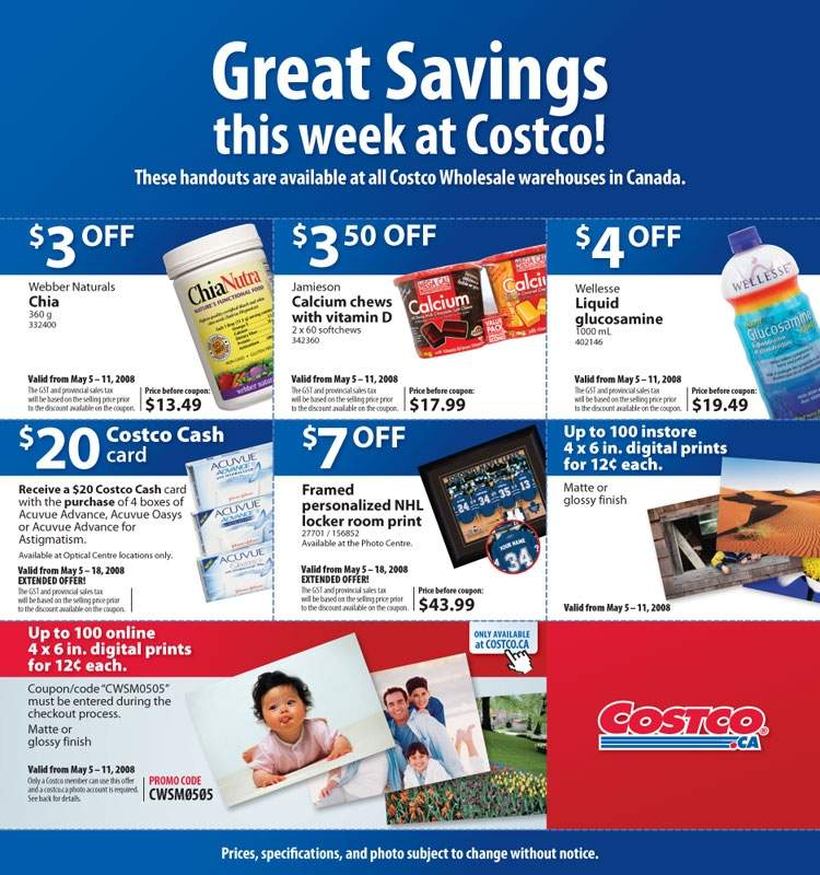 Costco Canada Flyer / Coupons: May 5 – 11, 2008