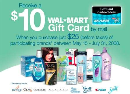 Walmart Canada: $10 Gift Card with $25 Purchase