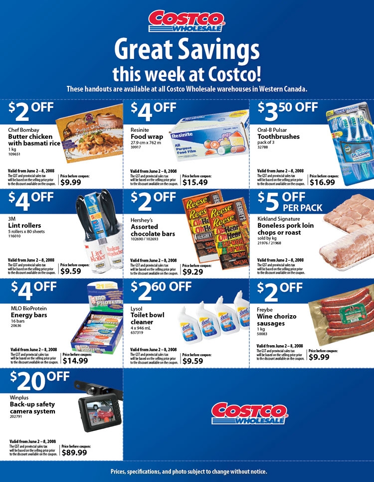 Costco Weekly Ad Savings. Get the Costco Ad sale prices, current coupons, this week best deals & sales, promotions and offers. As one of the country's biggest membership-only retailers, Costco offers one of the most varied selections of bulk buys on the market and some of the best prices for foods and general merchandise as well.