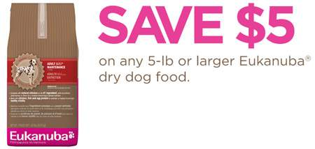 Canadian Coupons: Eukanuba Dog Food $5 off at Save.ca