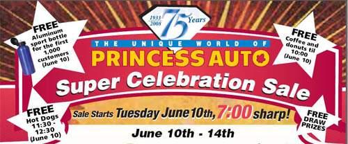 Princess Auto Canada: 75th Anniversary Event