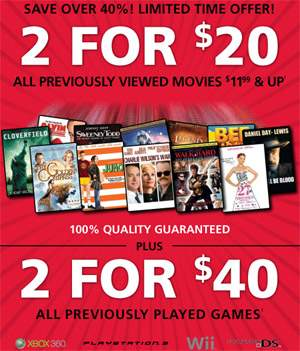 Rogers Video: 2 Games for $40