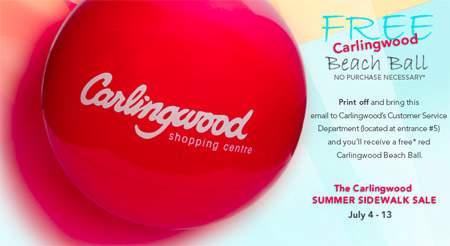 Canadian Freebies: Carlingwood Mall Free Beachball