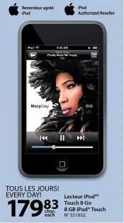 Walmart Canada Flyer: iPod Touch 8GB $179.83