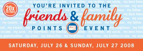 Shoppers Drug Mart Friends & Family x20 Points Event