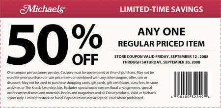 Michaels Arts and Crafts Canada Coupon